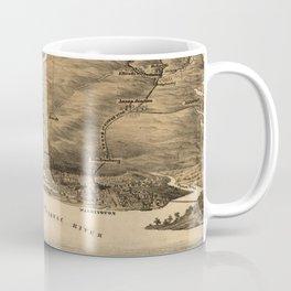Vintage Pictorial Map of DC, Maryland & Northern VA Coffee Mug