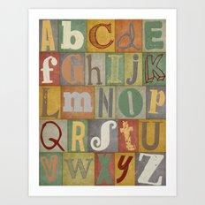 Vintage Alphabet Print Art Print