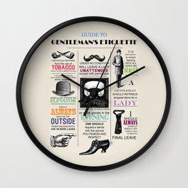 Gentlemans Etiquette  Wall Clock