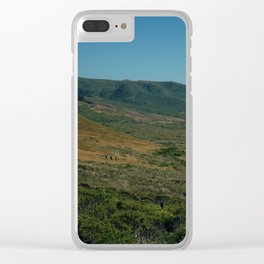 Free and Alone Clear iPhone Case