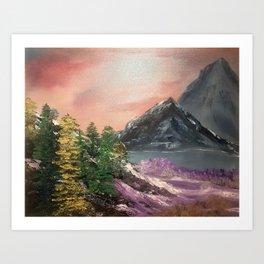 Pink amongst the gray Art Print