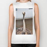 ostrich Biker Tanks featuring Ostrich :) by IowaShots