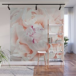 Peony Photography | Blush Pink Flower | Floral Art Print | Nature | Botany | Plant Wall Mural