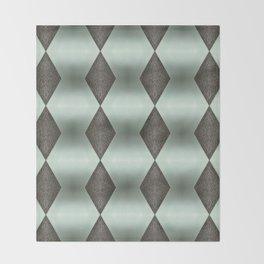 Mint Green, Cream & Chocolate Brown No. 5 Throw Blanket