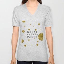 PRINTABLE Art,Great Gatsby Party,Party Like Gatsby,Wedding Anniversary,Happy Birthday,Celebrate Life Unisex V-Neck
