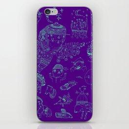 Space sketch iPhone Skin