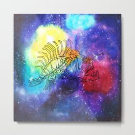 Space Fish Metal Print