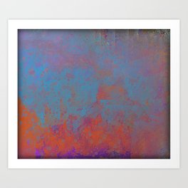 Abstract in Painted Metal Art Print