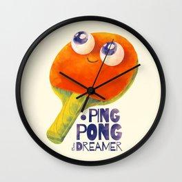 Ping-pong dreamer Wall Clock