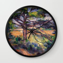 Paul Cezanne - Grand pin et terres rouges (Large Pine and Red Earth) Wall Clock