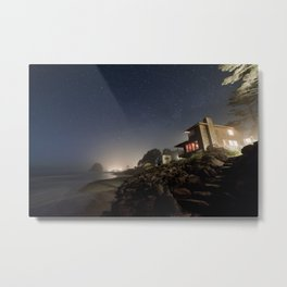 Starry Beach Metal Print