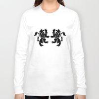lions Long Sleeve T-shirts featuring English Lions by JonathanStephenHarris