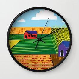 Campi (Fields) Wall Clock