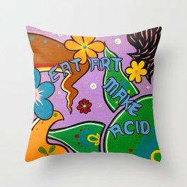 eat art Throw Pillow