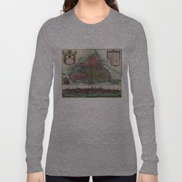 Vintage Map of Ghent Belgium (1780) Long Sleeve T-shirt