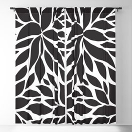 Pattern Petals black and white Blackout Curtain