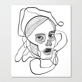 Sketch woman's head art. Canvas Print
