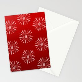 Red Aztec Ombre Pattern Stationery Cards
