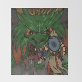 Ancelin vs Drecus Throw Blanket
