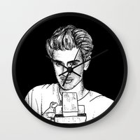 garfield Wall Clocks featuring Andrew Garfield by Sharin Yofitasari