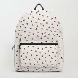 Red Cute Ditsy Doodle Love Hearts Sprinkles Backpack