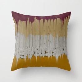 Goo (gold) Throw Pillow