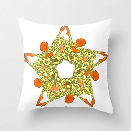 Starfish Human Star Throw Pillow