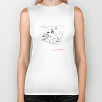 architect Biker Tanks featuring Le Corbusier The Architect by Rothko