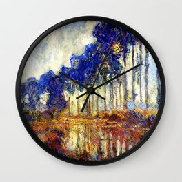 Monet : Poplars on the Banks of the River Epte, 1891 Wall Clock