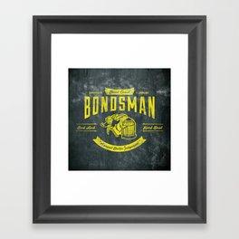 Beast Coast Bondsman (GOLD) Framed Art Print