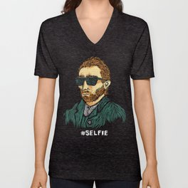 Van Gogh: Master of the #Selfie Unisex V-Neck