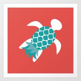 Pineapple Turtle Art Print