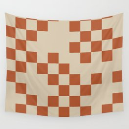 Checked in Burnt Orange Wall Tapestry