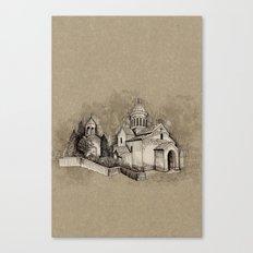 armenian church in ani Canvas Print