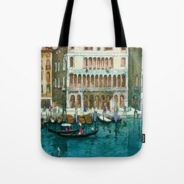 Canals In Venice - Digital Remastered Edition Tote Bag