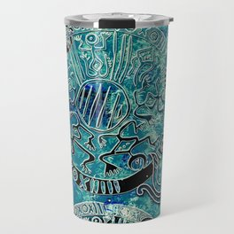 Aztec blues2 Travel Mug