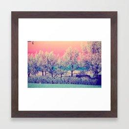 frost at dawn Framed Art Print