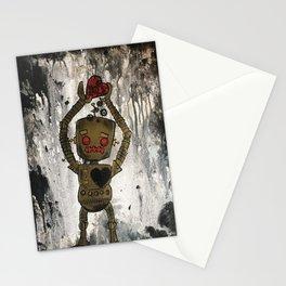 Sad Robot 4 Stationery Cards