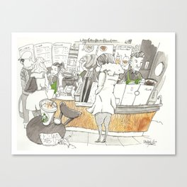 Starbucks sketch Canvas Print
