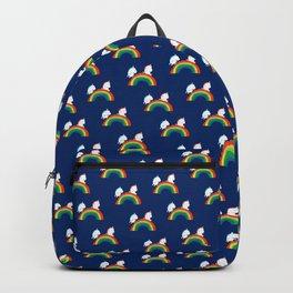 Unicorn on rainbow slide Backpack