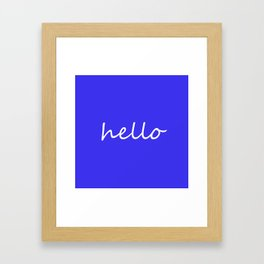 hello blue & white Framed Art Print