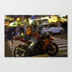 City Rider Canvas Print