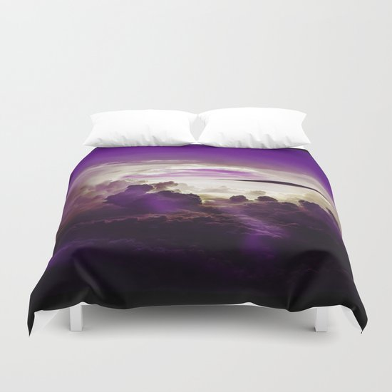 I Want To Believe - Purple Duvet Cover
