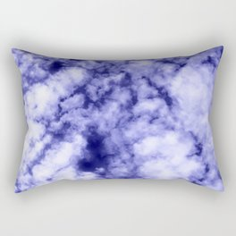 Clouds in a dark blue sky Rectangular Pillow