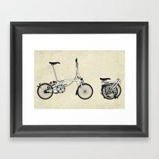 Brompton Bicycle Framed Art Print