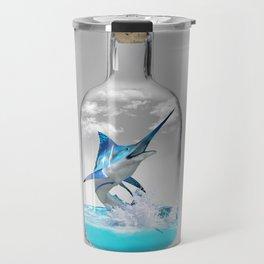 Marlin in a Bottle Travel Mug
