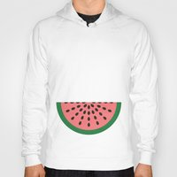 watermelon Hoodies featuring Watermelon by Karolis Butenas