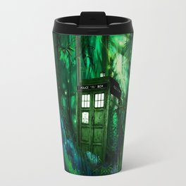 Tardis in the forest 2 Travel Mug