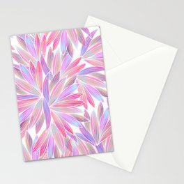 Trendy girly pink lavender coral watercolor floral Stationery Cards