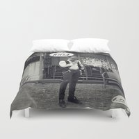 hipster Duvet Covers featuring Hipster by Stephan Parylak